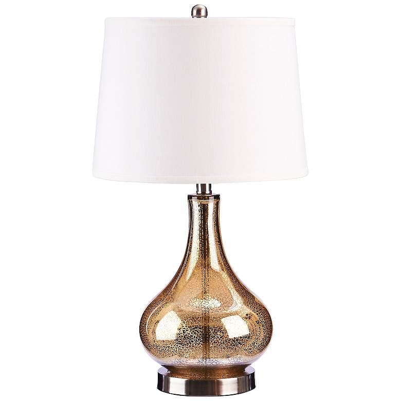 Mackenzie Gold Mercury Glass Gourd LED Table Lamp