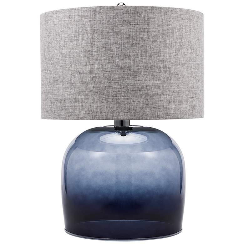 Katja Smoke Gray Ombre Glass LED Table Lamp