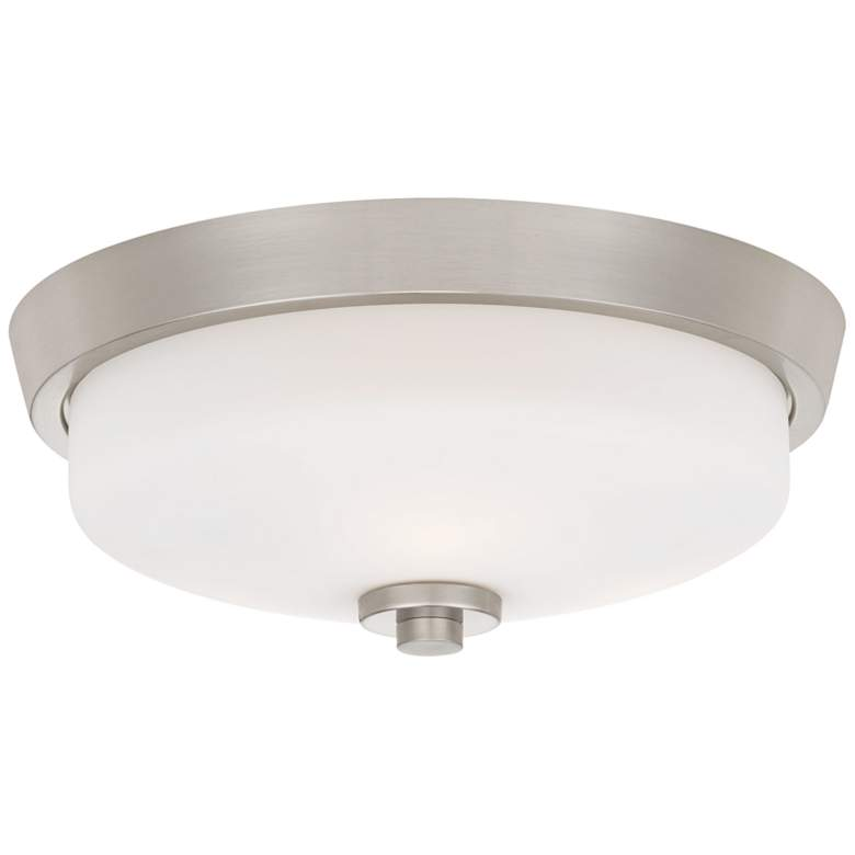 "Quoizel Radius 14 3/4"" Wide Brushed Nickel Ceiling Light"