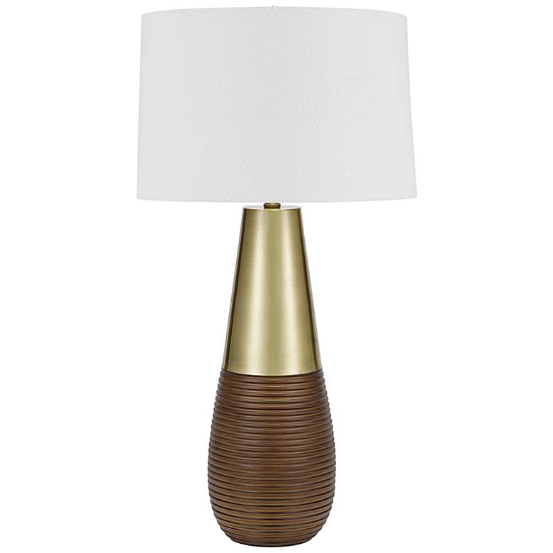 Decker Metallic Champagne and Bronze LED Gourd Table Lamp