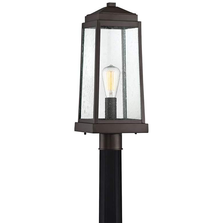 """Quoizel Ravenel 20"""" High Western Bronze Outdoor Post light"""