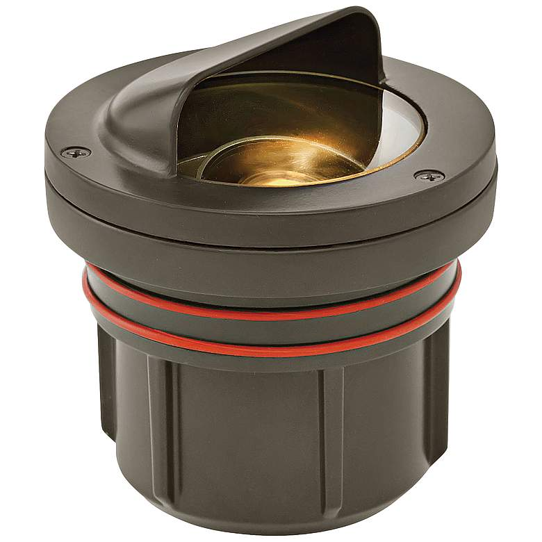 Hinkley Shielded Bronze 3 Watt 3000K LED Outdoor Well Light
