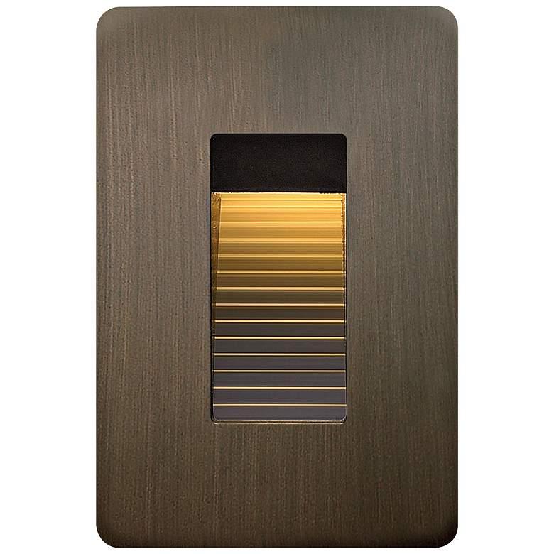 """Hinkley Luna 3"""" Wide Matte Bronze LED Landscape Step Light"""