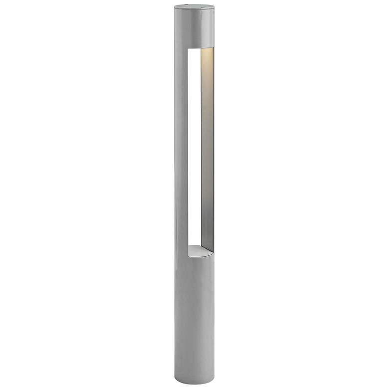 "Hinkley Atlantis 30""H Titanium LED 120V Round Bollard Light"