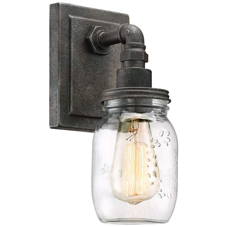 """Quoizel Squire 11 1/2"""" High Rustic Black Wall Sconce"""