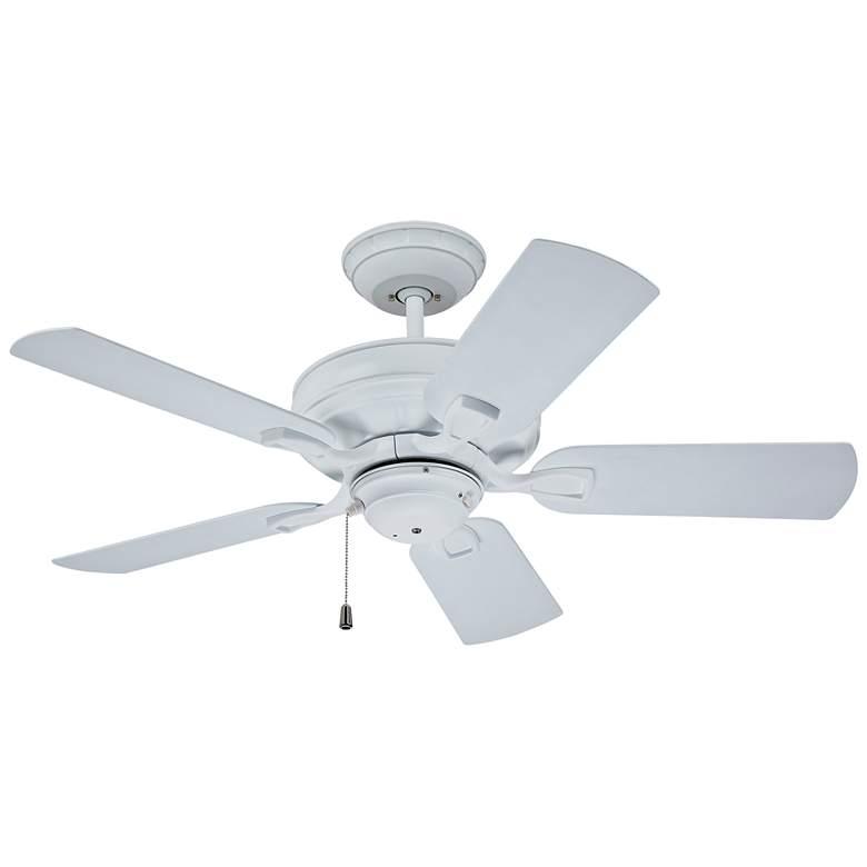 "42"" Emerson Veranda Outdoor Satin White Ceiling Fan"