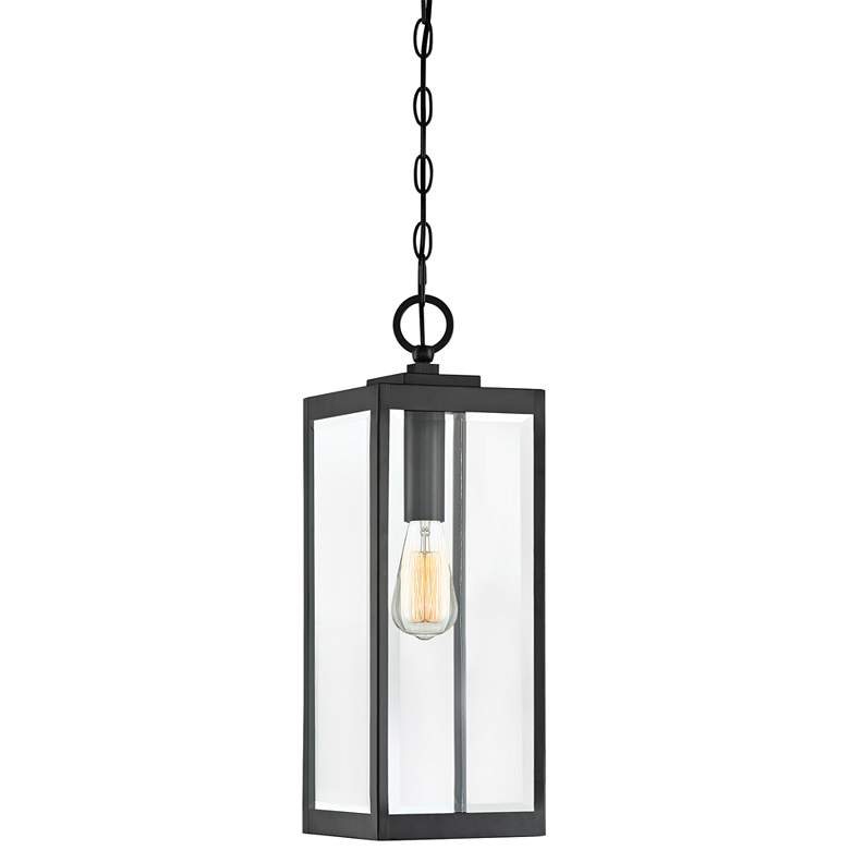 "Quoizel Westover 20 3/4""H Earth Black Outdoor Hanging Light"