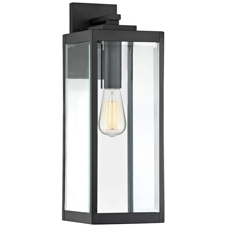 """Quoizel Westover 20"""" High Earth Black Outdoor Wall Light"""