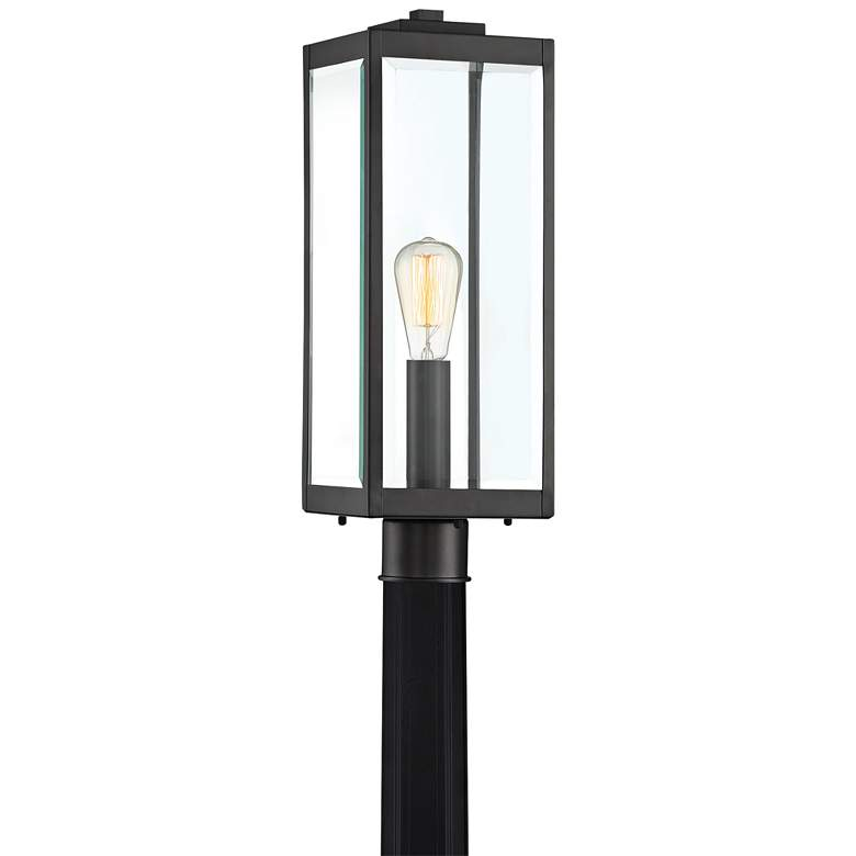 "Quoizel Westover 20 1/2"" High Earth Black Outdoor Post Light"