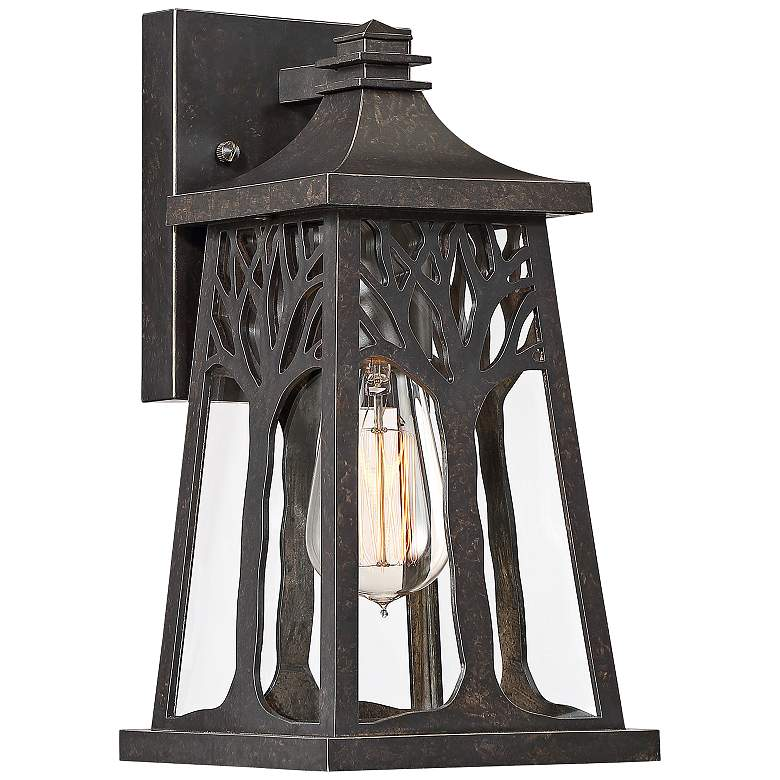 "Quoizel Wildwood 12 1/4""H Imperial Bronze Outdoor Wall Light"