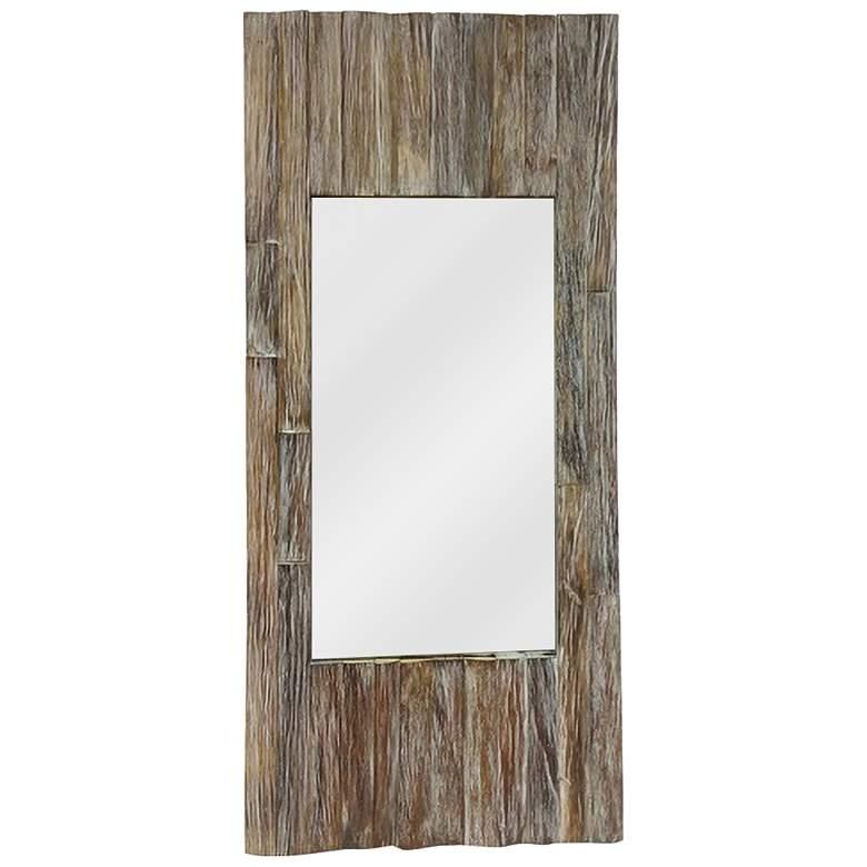 """Rustic Image III Wood 18 1/2"""" x 39 1/4"""" Wall Mirror"""