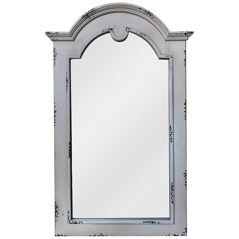 """Reba Antique White 27 1/2"""" x 43 1/2"""" Wall Mirror"""