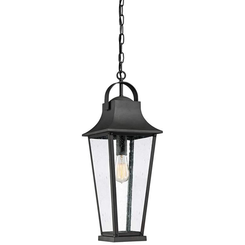 "Quoizel Galveston 24""H Mottled Black Outdoor Hanging Light"