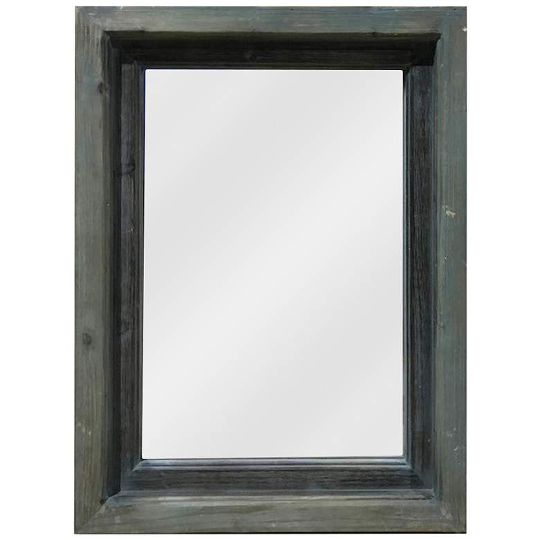 """Robust Antique Green Wood 23 1/2"""" x 31 1/2"""" Wall Mirror"""