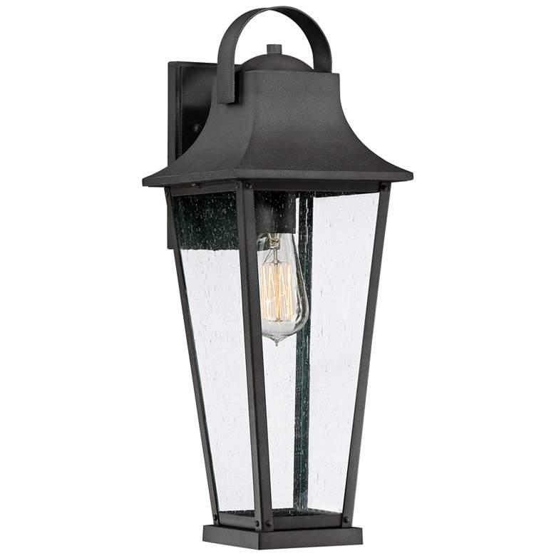 "Quoizel Galveston 19 1/4""H Mottled Black Outdoor Wall Light"