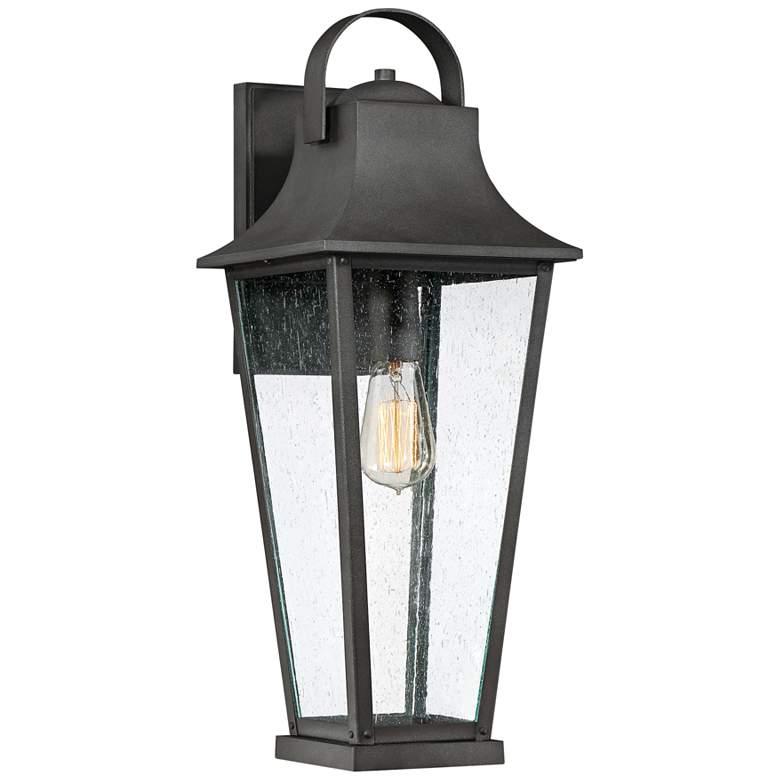 "Quoizel Galveston 22"" High Mottled Black Outdoor Wall Light"