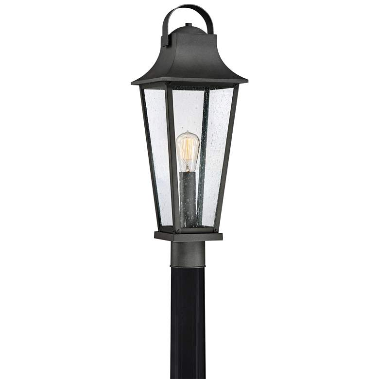 "Quoizel Galveston 24 1/2""H Mottled Black Outdoor Post Light"