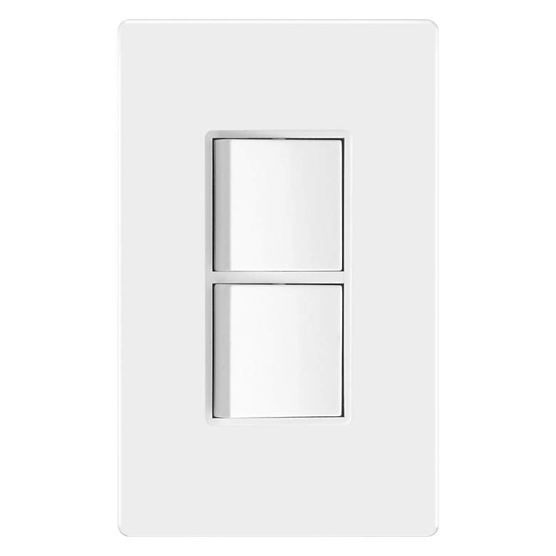 Tesler White Double Single Pole On/Off Switches w/
