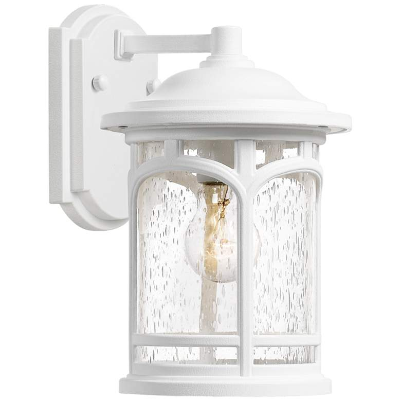 """Quoizel Marblehead 11"""" High White Lustre Outdoor Wall Light"""