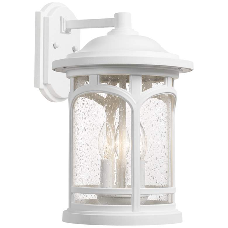 "Quoizel Marblehead 14 1/2""H White Lustre Outdoor Wall Light"
