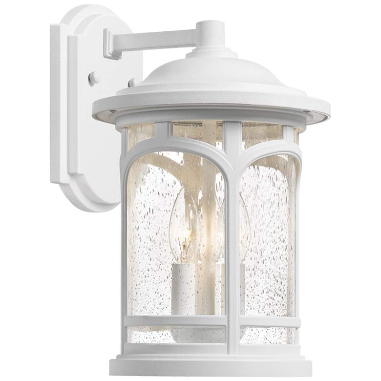 """Quoizel Marblehead 17 3/4""""H White Lustre Outdoor Wall Light"""
