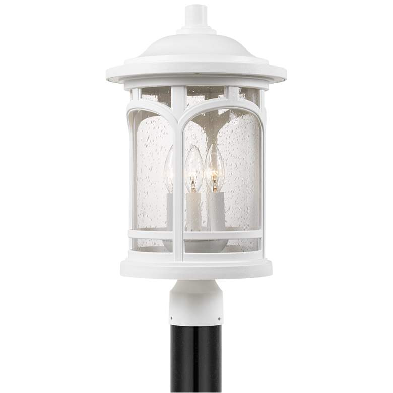 "Quoizel Marblehead 19"" High White Lustre Outdoor Post Light"