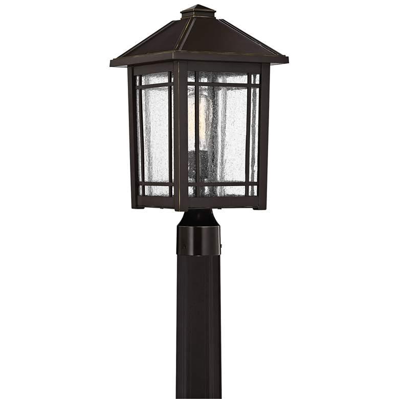 """Quoizel Cedar Point 18""""H Palladian Bronze Outdoor Post Light"""