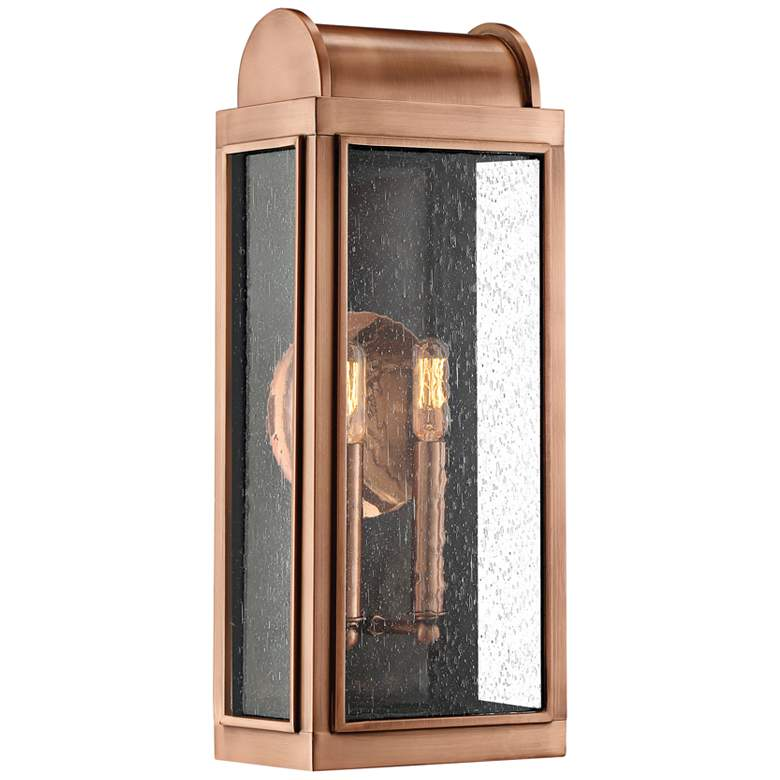 """Quoizel Danville 19"""" High Aged Copper Outdoor Wall Light"""