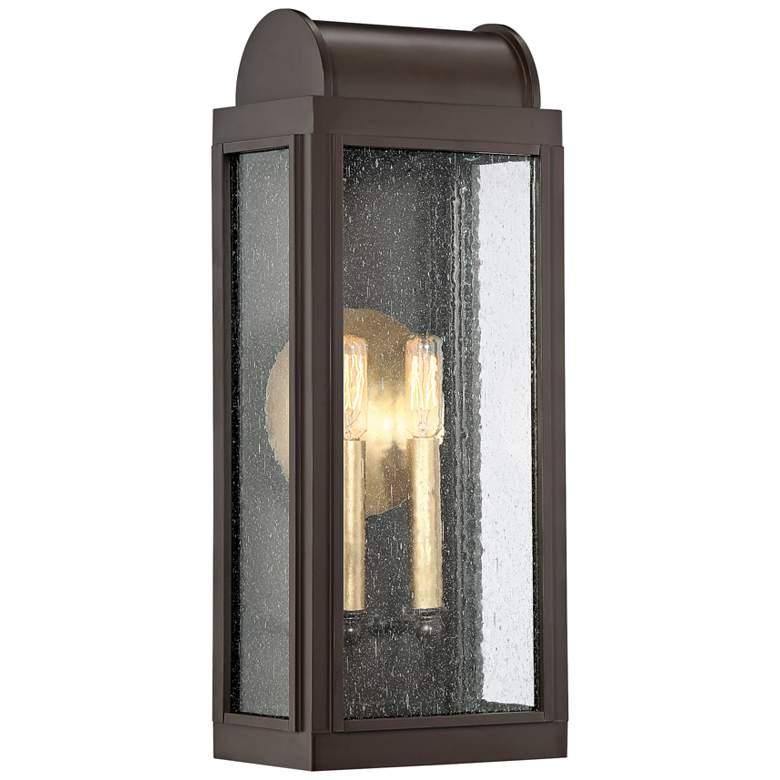 """Quoizel Danville 19"""" High Western Bronze Outdoor Wall Light"""