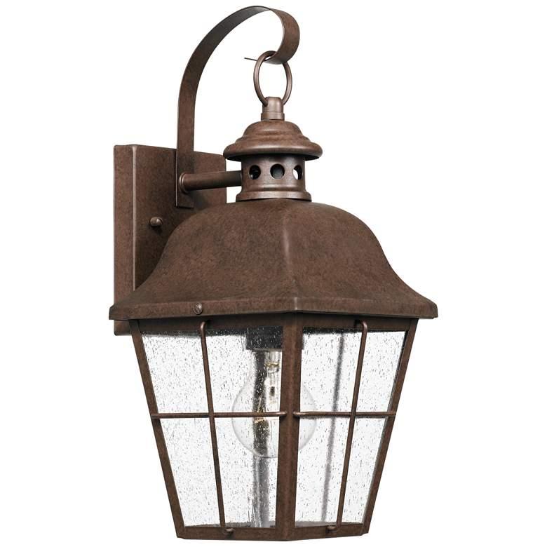 "Quoizel Millhouse 15 1/2""H Copper Bronze Outdoor Wall Light"