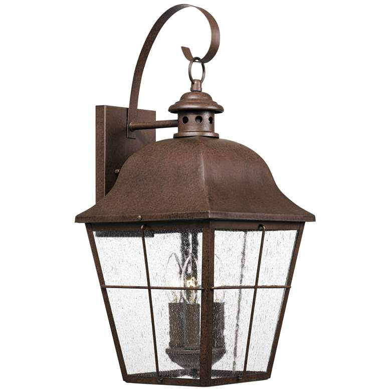 """Quoizel Millhouse 22"""" High Copper Bronze Outdoor Wall Light"""