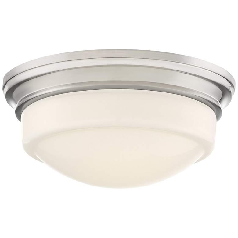 """Quoizel Stark 7 1/4"""" Wide Brushed Nickel LED Ceiling Light"""