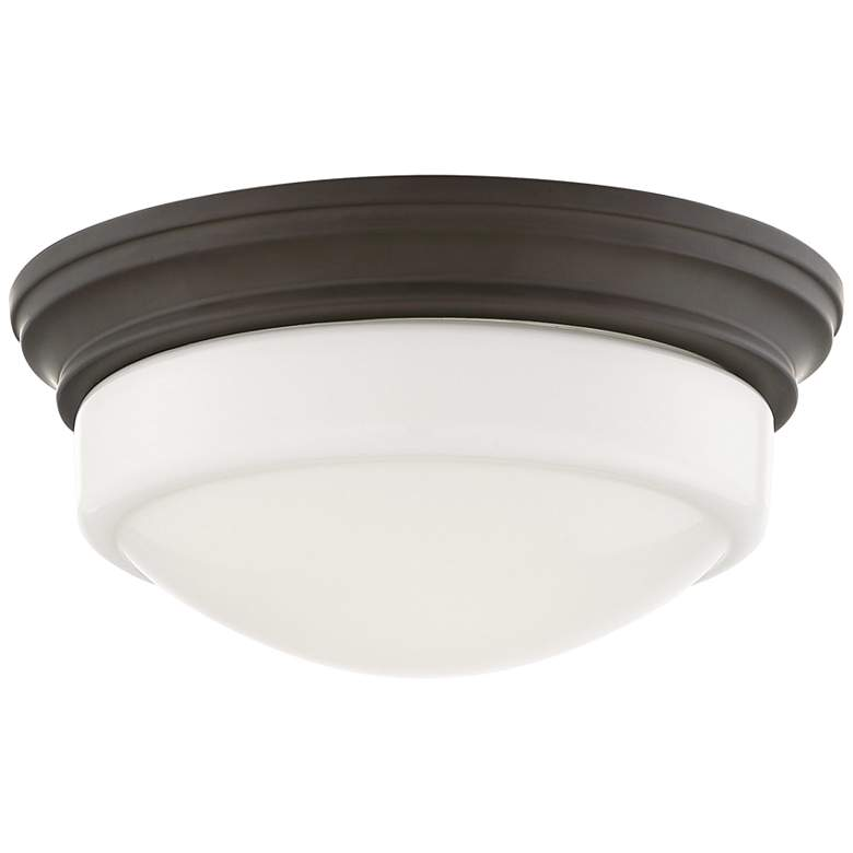 """Quoizel Stark 7 1/4"""" Wide Old Bronze LED Ceiling Light"""