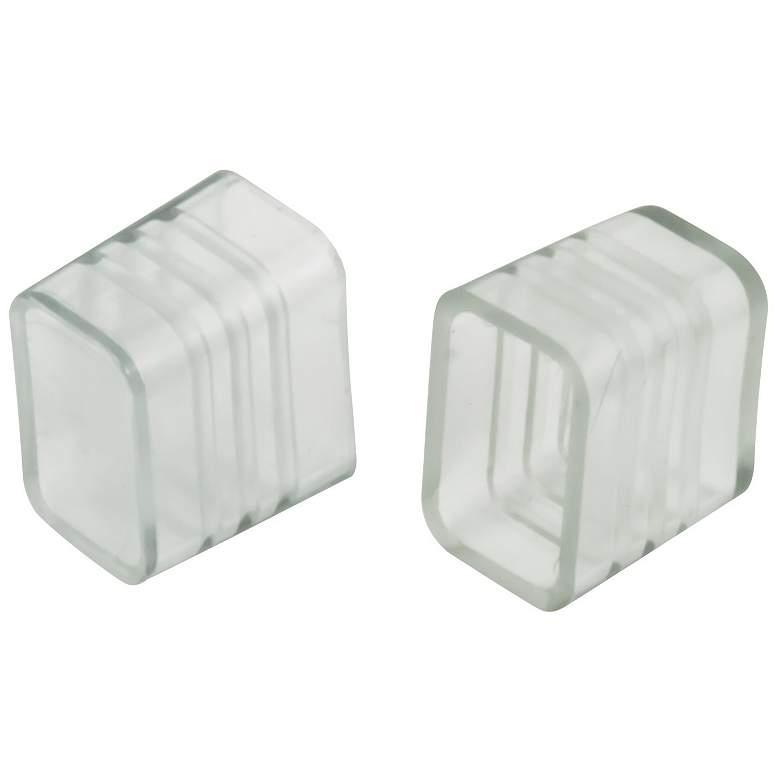 Polar Neon Flex Clear Plastic End Caps 10-Pack