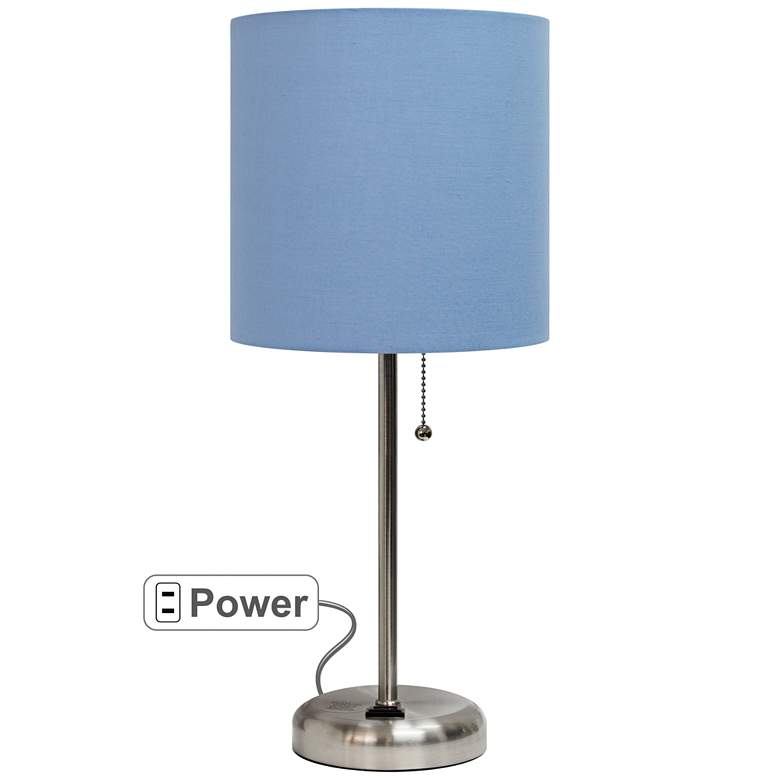 """LimeLights Stick Blue Shade 19 1/2"""" High Accent Table Lamp"""