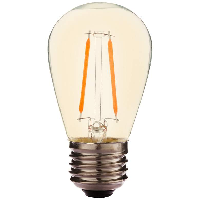 25W Equivalent Amber 2W LED Dimmable Standard Bulb