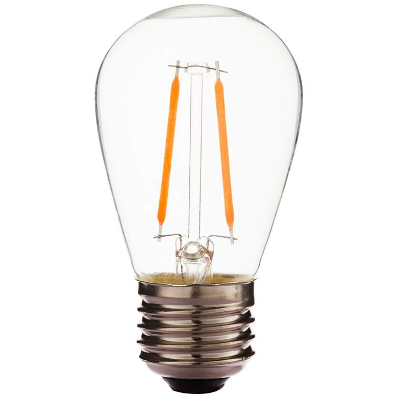 25W Equivalent Clear 2W LED Dimmable Standard Bulb