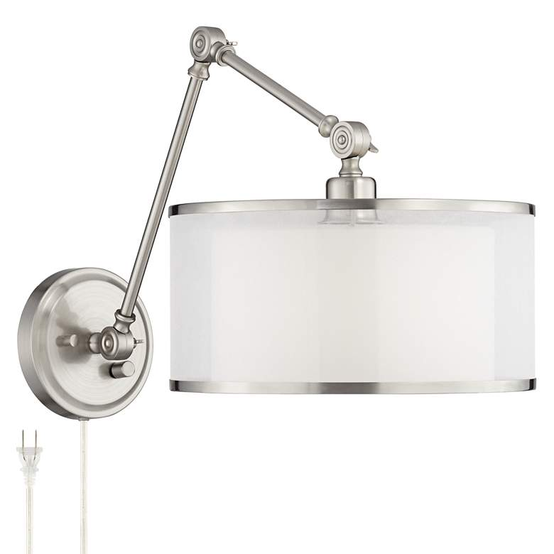 Possini Euro Taliah Brushed Nickel Pin-Up Wall Lamp