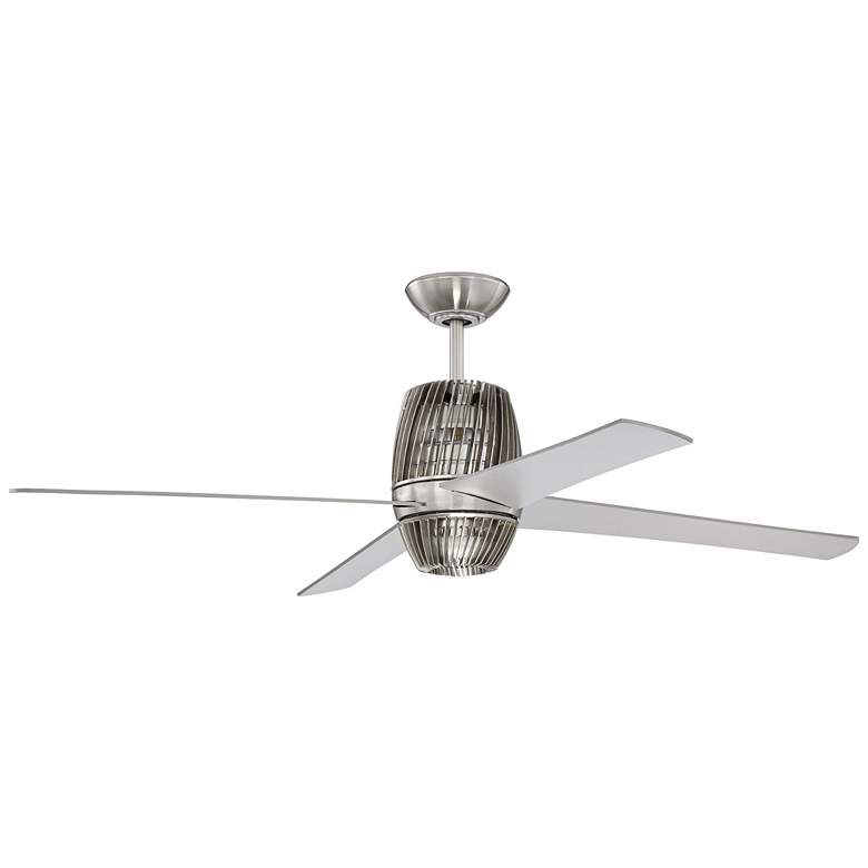 "52"" Craftmade Torbeau Brushed Nickel LED Ceiling Fan"