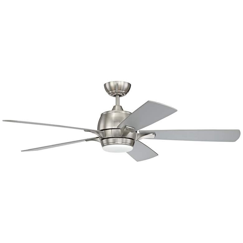 "52"" Craftmade Stellar Brushed Nickel LED Ceiling Fan"