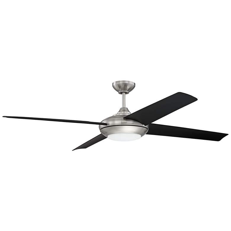 """60"""" Craftmade Moderne Brushed Nickel LED Ceiling Fan"""