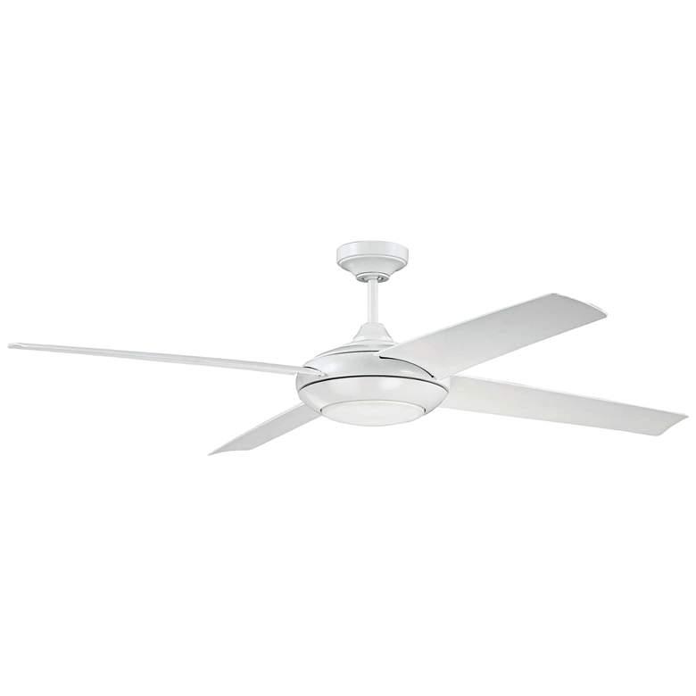 """60"""" Craftmade Moderne White LED Ceiling Fan"""