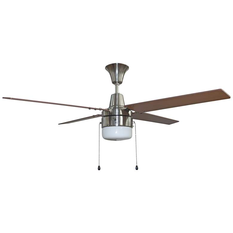 """48"""" Craftmade Connery Brushed Nickel LED Ceiling Fan"""