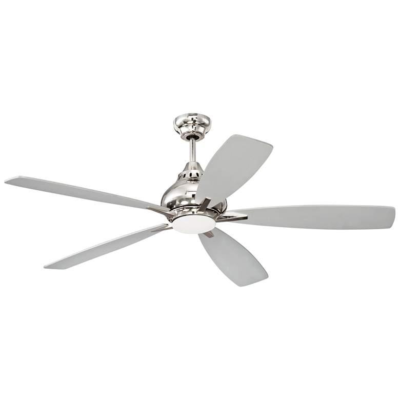 "52"" Craftmade Swyft Polished Nickel LED Ceiling Fan"