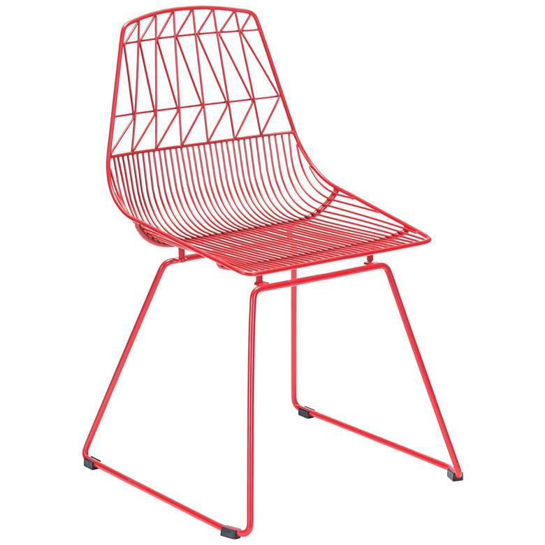 Zuo Brody Red Indoor-Outdoor Dining Chair