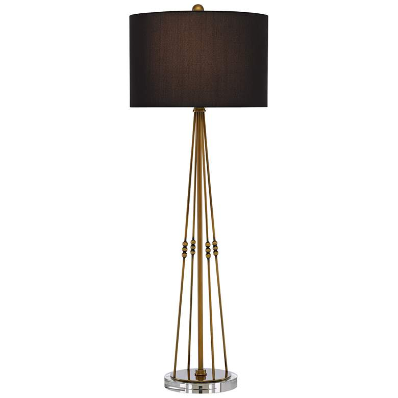 Currey and Company Kayth Antique Brass Metal Table Lamp