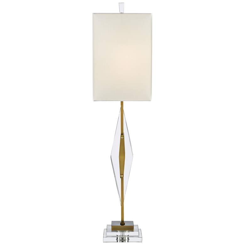Currey and Company Amita Clear and Antique Brass Table Lamp