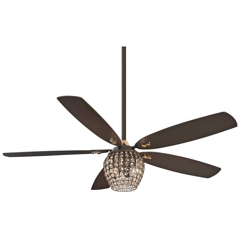 "56"" Minka Aire Bling Oil Rubbed Bronze LED Ceiling Fan"