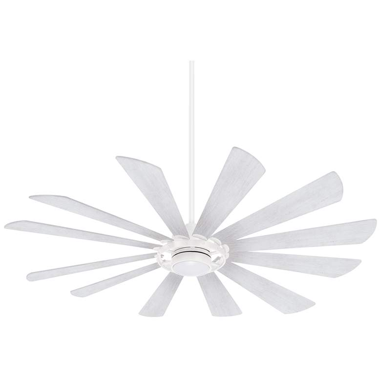 "65"" Minka Aire Windmolen Textured White LED Ceiling Fan"