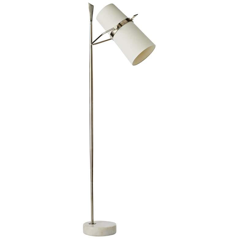 Arteriors Home Yasmin Vintage Silver Metal Floor Lamp